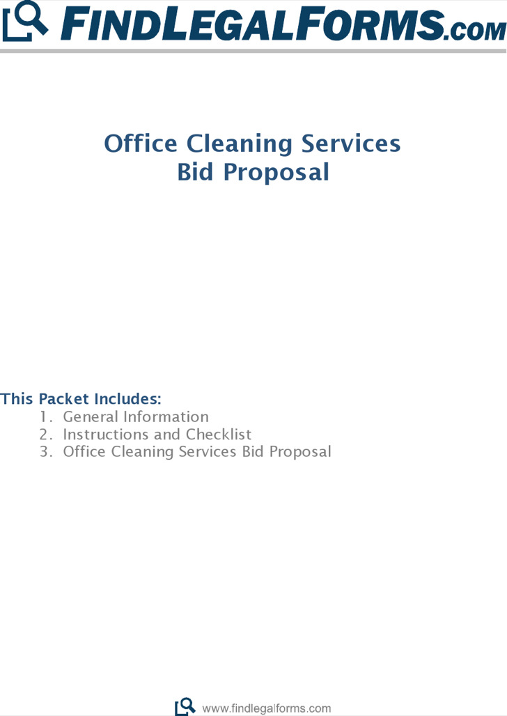 Office Cleaning Service Bid Proposal Template