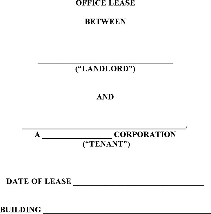 Office Lease Agreement Template – Sample Office Lease Agreement Template