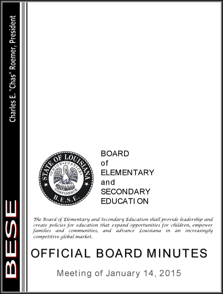 Official Board Minutes