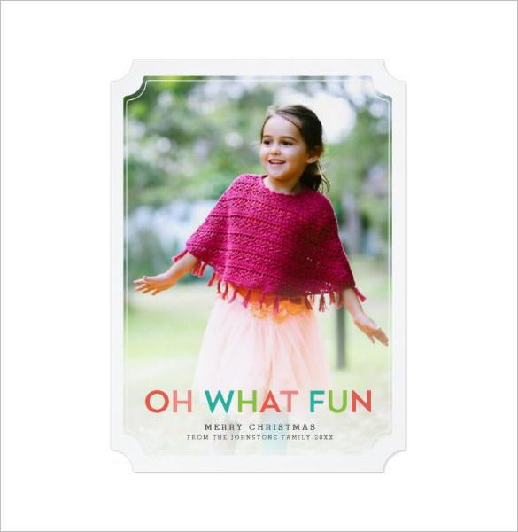 Oh What Fun Photo Holiday Card Template