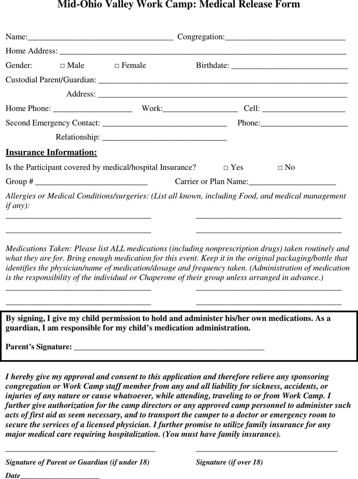 Ohio Medical Release Form 1