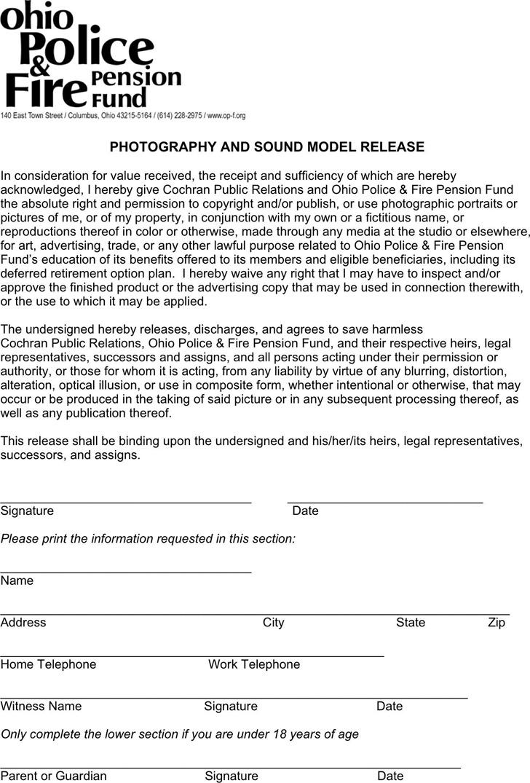 Ohio Model Release Form 2