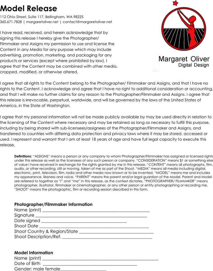 Ohio Model Release Form 3