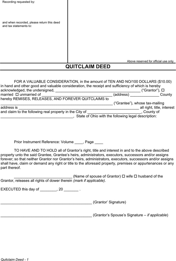 quit claim deed template free download - quit claim deed template word simple texas general