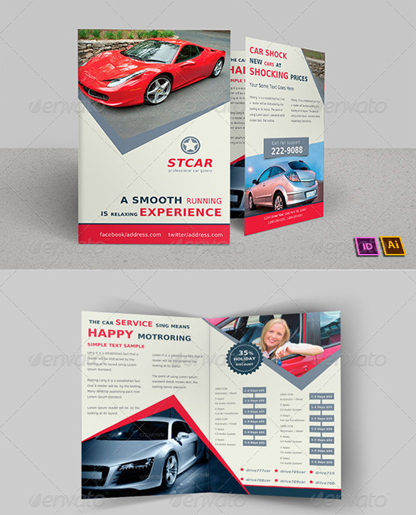 Old Car Bi-Fold Brochure