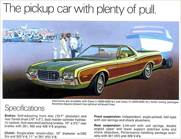 Old Ford Ranchero Brochure