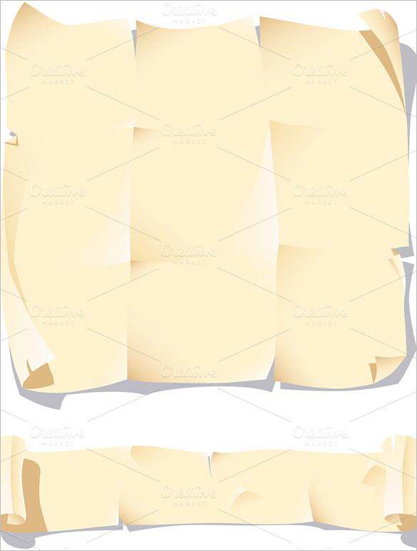 Old Paper Scroll Paper Template Download - $7