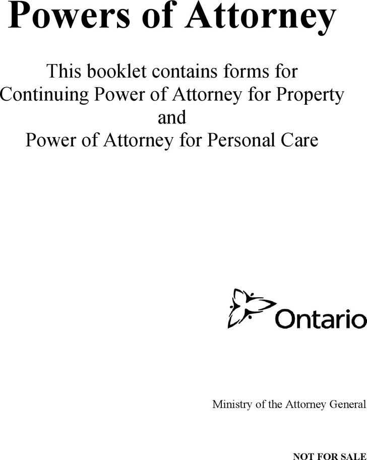 Ontario Power Of Attorney Form Download Free Premium Templates