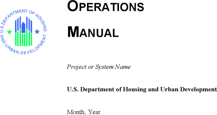 Operation Manual Template Word