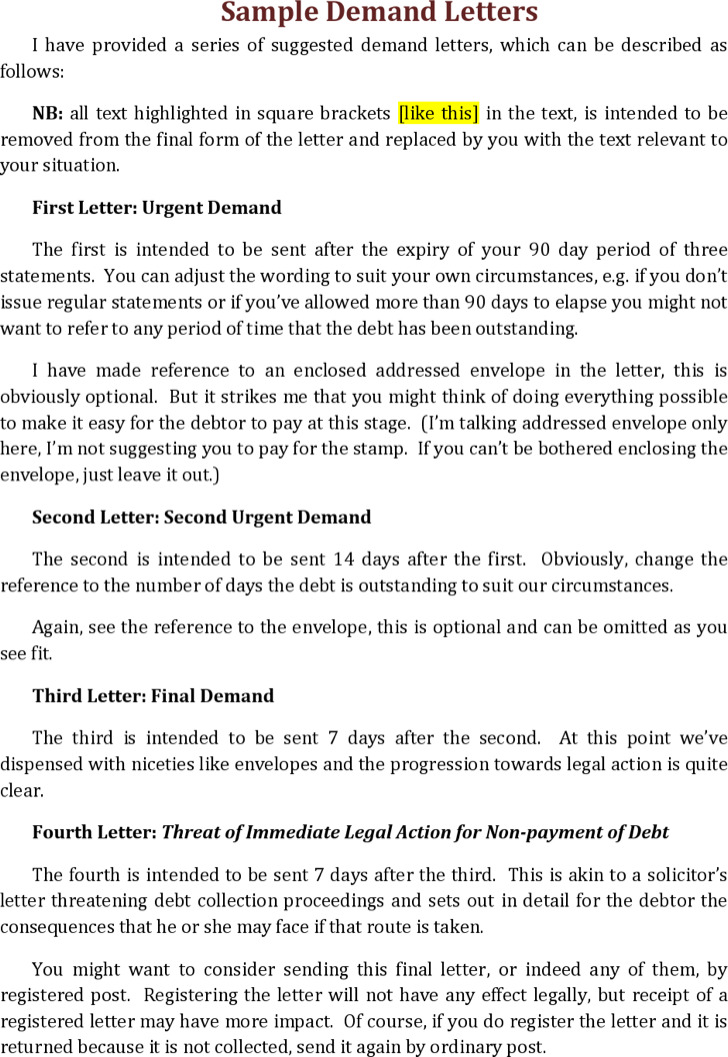 Overdue Invoice Notice Letter