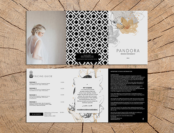 Pandora Photography Trifold Brochure Design