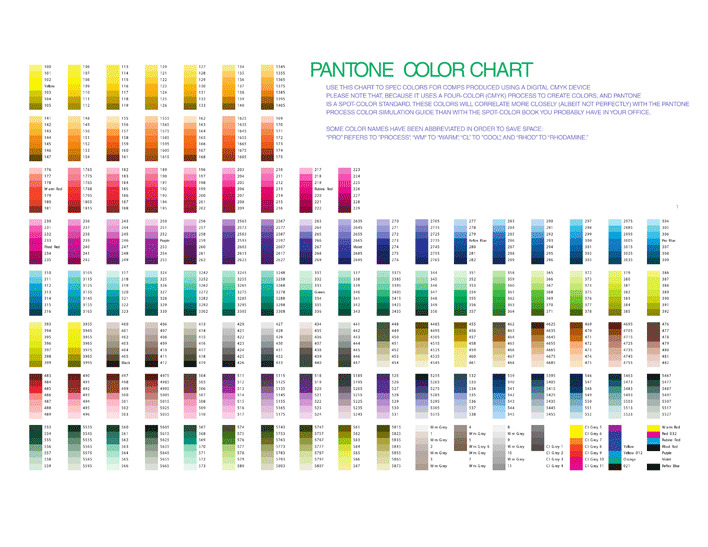 Pantone Color Chart  Download Free  Premium Templates Forms