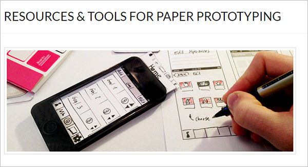 Paper Prototyping Tools