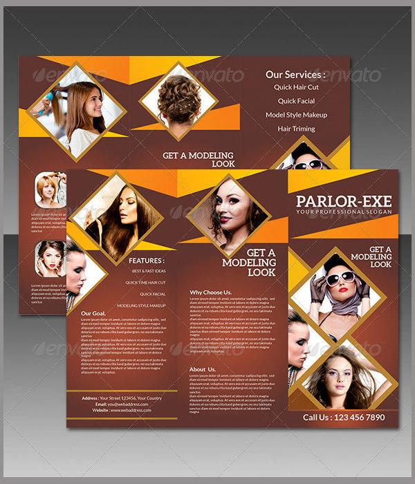 Parlour Tri Fold Brochure Template