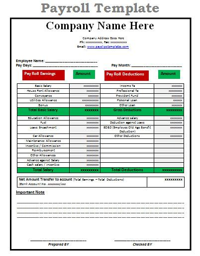 Payroll Templates  Download Free  Premium Templates Forms