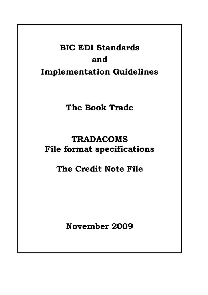 PDF Format Credit Note Template