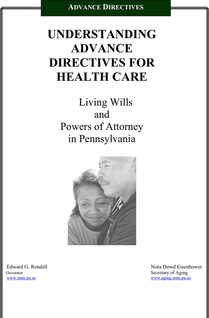 Pennsylvania Advance Directive For Health Care