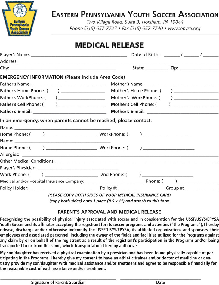 Pennsylvania Medical Release Form 3