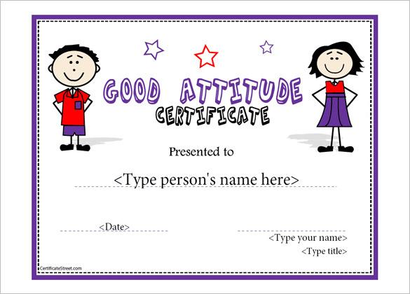 Perfect Attendance Template Certificate Sample