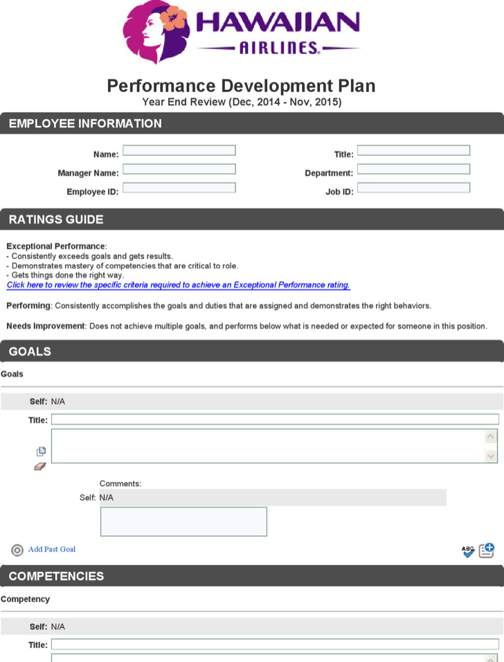 Doc570739 Employee Development Plan Template Employee Career – Employee Development Template