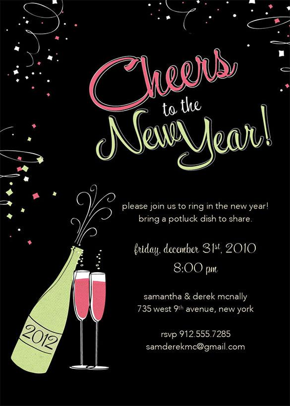 New Year Invitation Templates Download Free Premium Templates - New years eve party invitation templates free