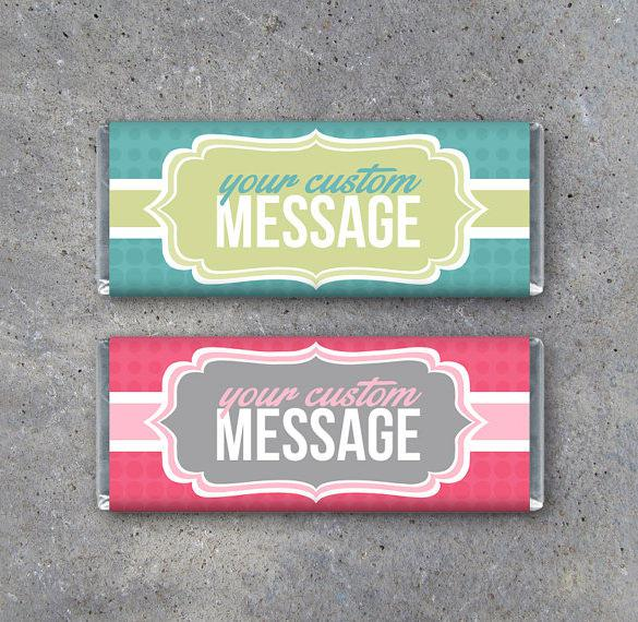 Personalized Candy Bar Wrapper Design