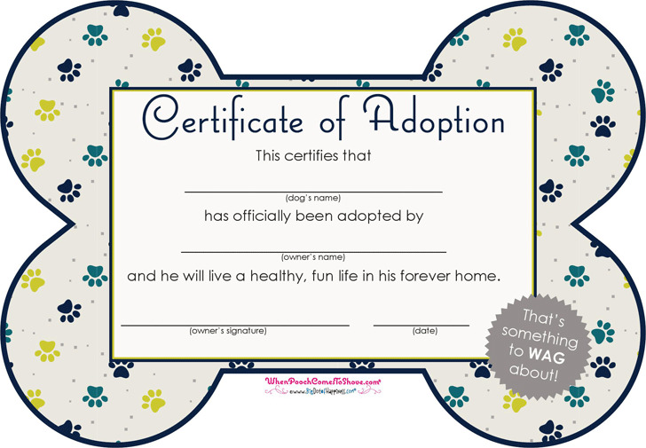 Adoption certificate download free premium templates forms pet adoption certificate yadclub Gallery