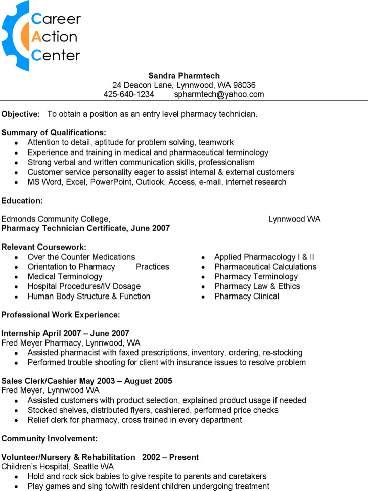 Pharmacy Technician Resume2