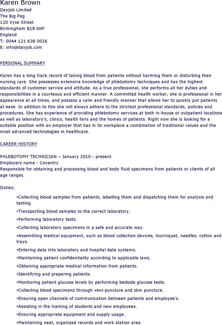 Phlebotomy Supervisor Resume