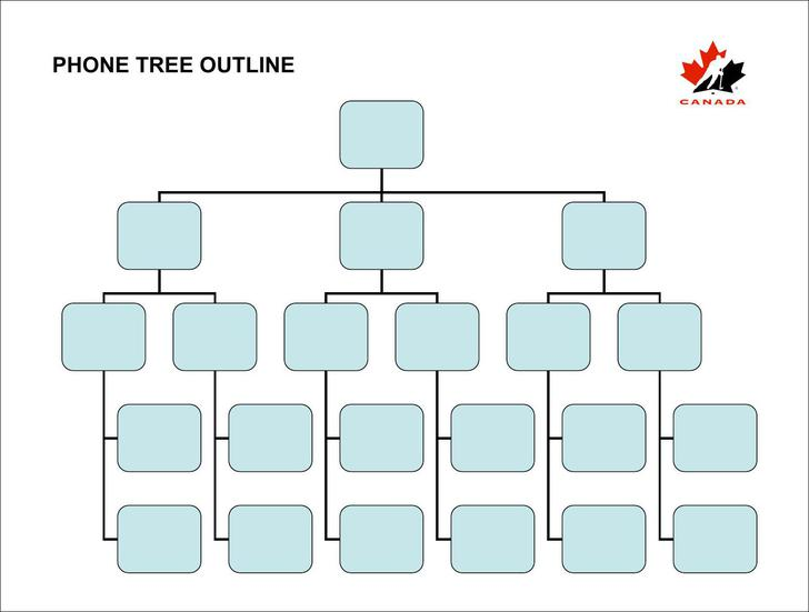 Printable phone tree template download free premium for Telephone tree template