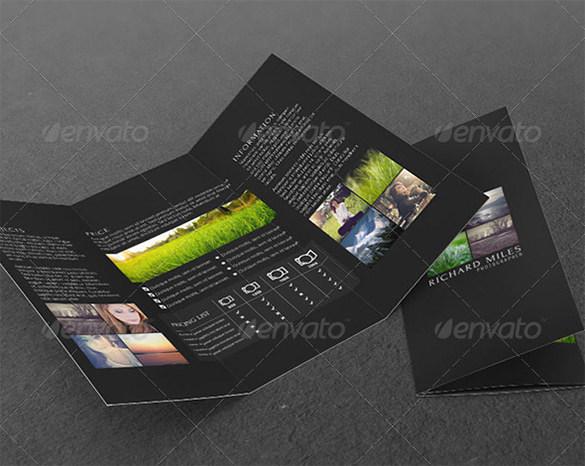 Photo Agency Tri-fold Corporate Brochure