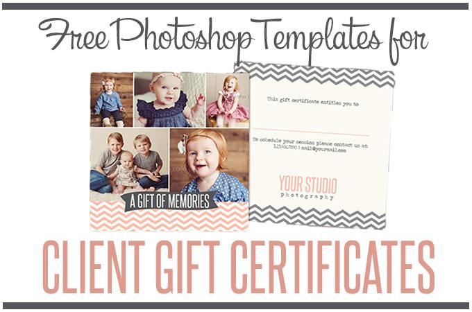 Photographer Gift Certificate Photoshop template Download