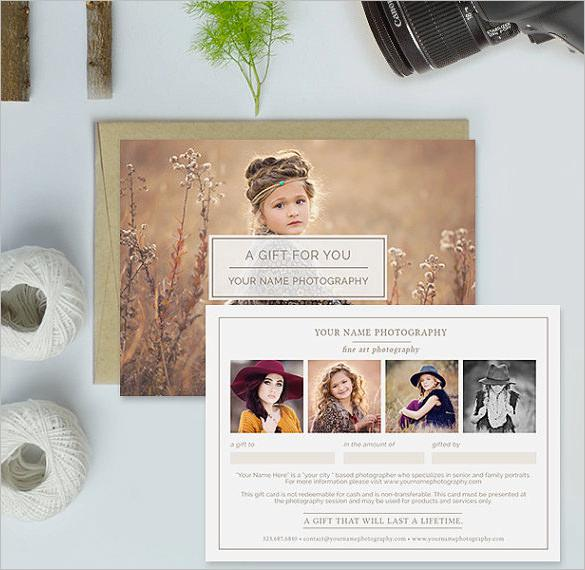 Photography Gift Certificate Template Download