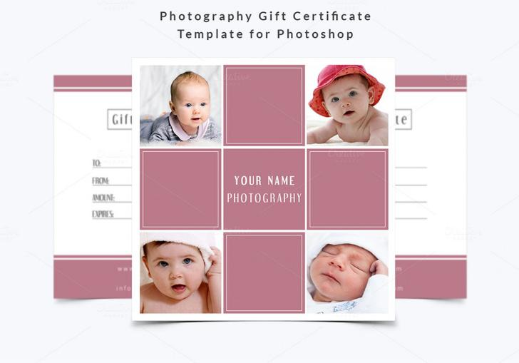 Photography Gift Certificate Template PSD Download