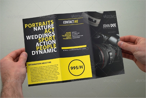 Photography Tri Fold Brochure Template Download