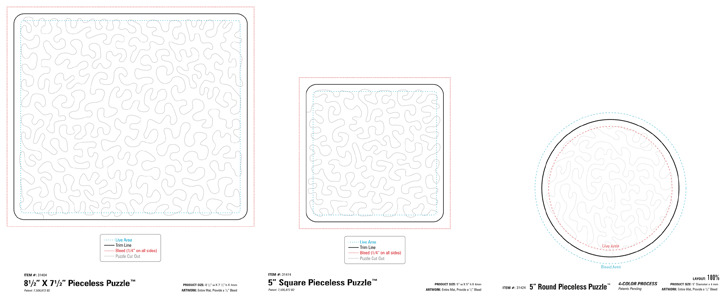Pieceless Puzzle Template