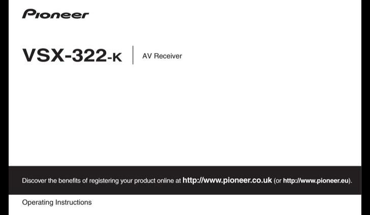 Pioneer User's Manual Sample