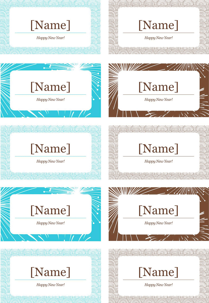 Place Card Template 3