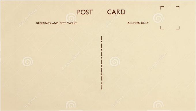 Plain Postcard Template