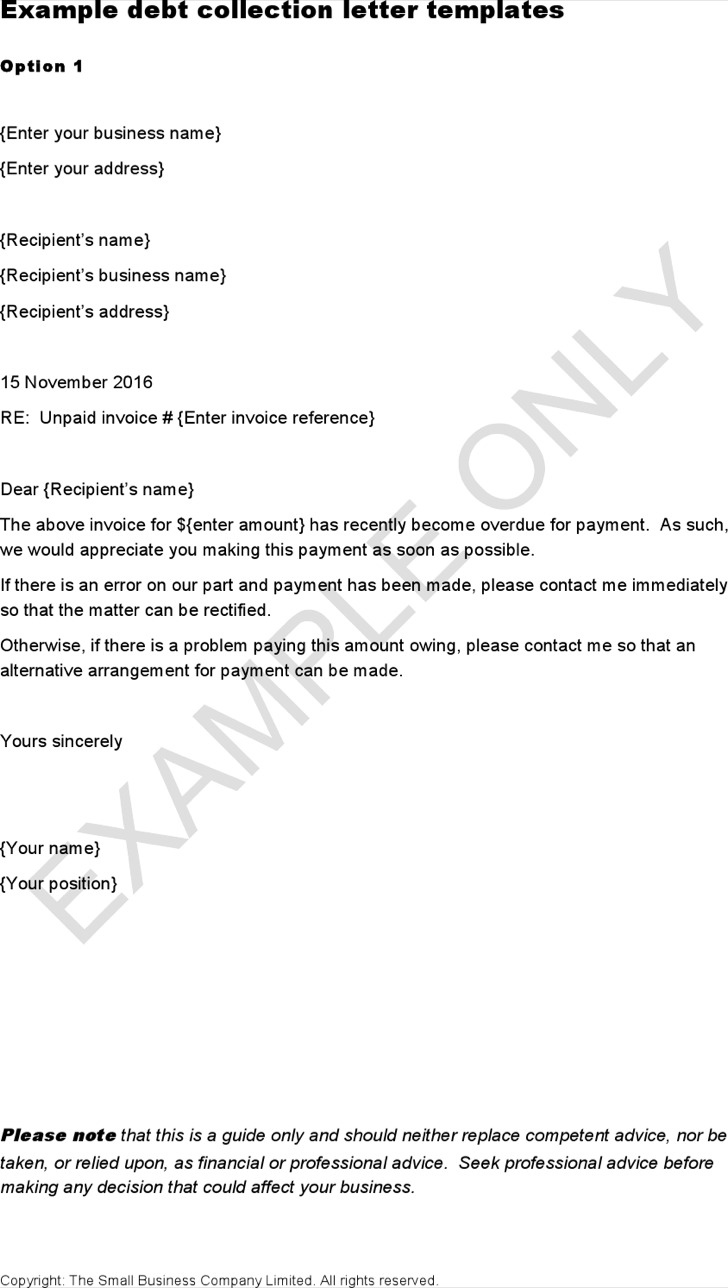 Overdue Invoice Letters – Invoice Letter