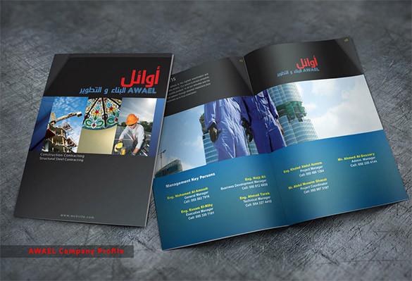 Popular Construction Company Brochure Template