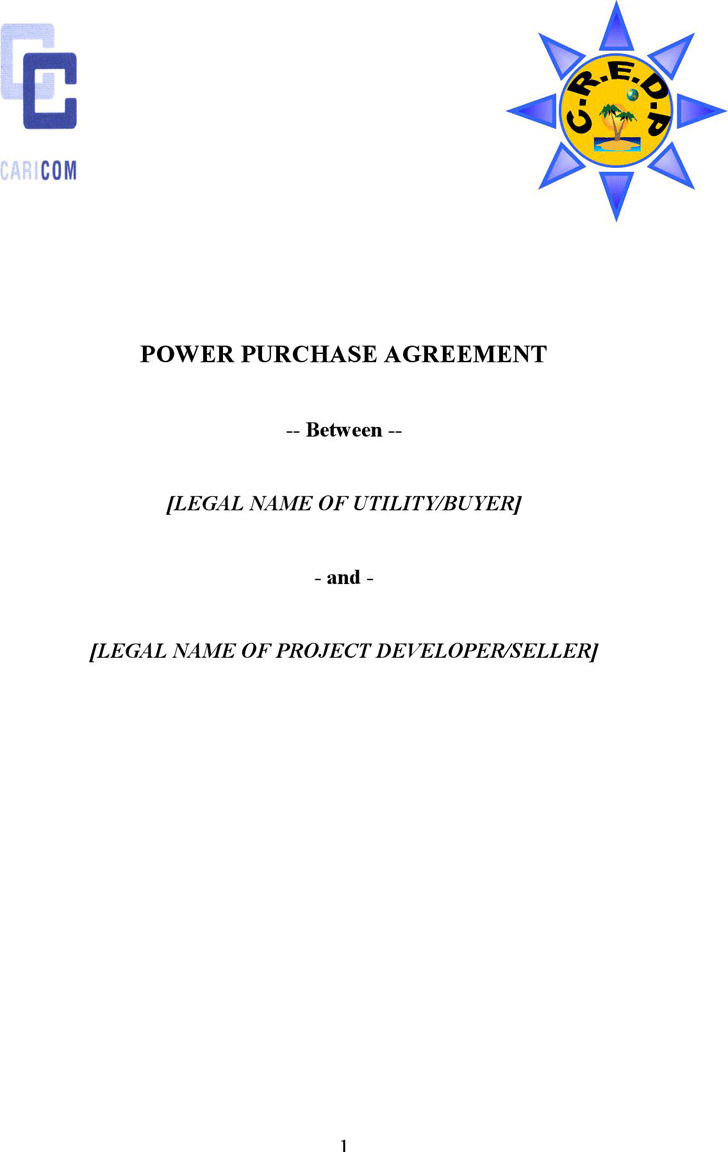 Power Purchase Agreement Download Free Premium Templates Forms - Power purchase agreement template