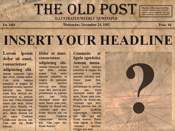 PowerPoint Editable Old Newspaper Template