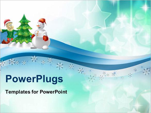 PowerPoint Template With Christmas Holiday Download