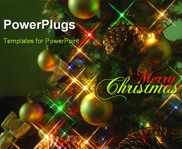PowerPoint Template With Christmas Tree Download