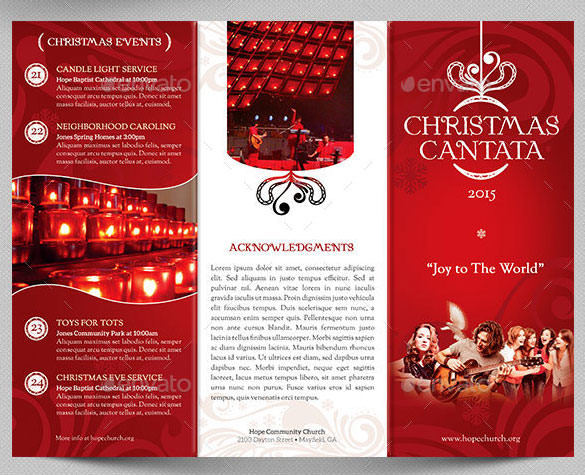 Premium Christmas Cantata Brochure Template PSD Format