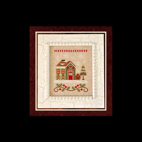 Premium Cross Stitch Pattern Gingerbread House Template