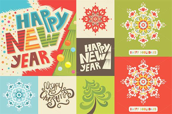Premium Happy New Year Set EPS Format Download