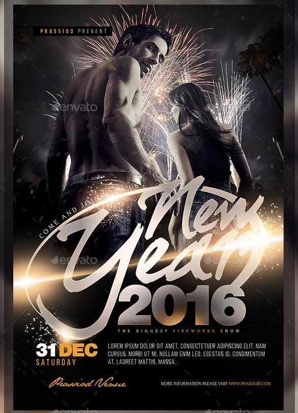 Premium New Year 2016 Flyer Template PSD Design