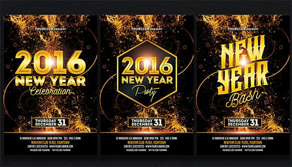 Premium New Year Party Bash Invitation PSD Download